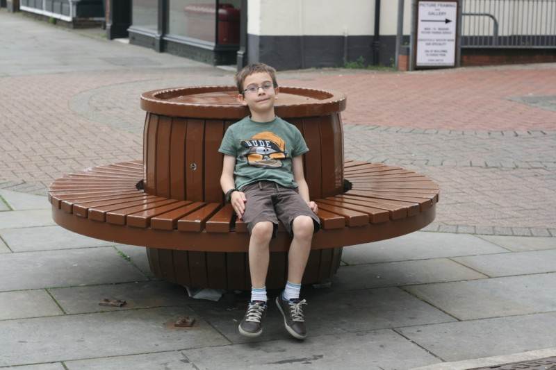 This is a Pork Pie Bench