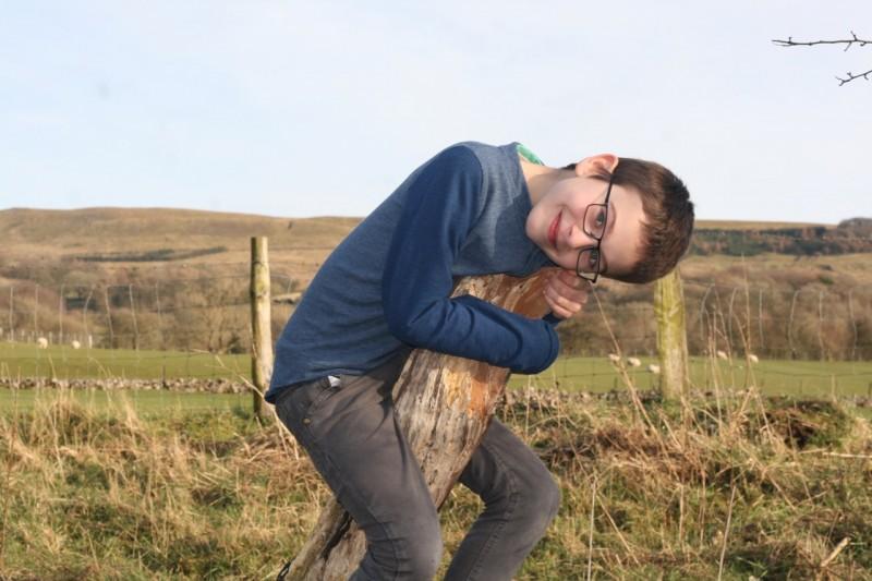 Me climbing a tree