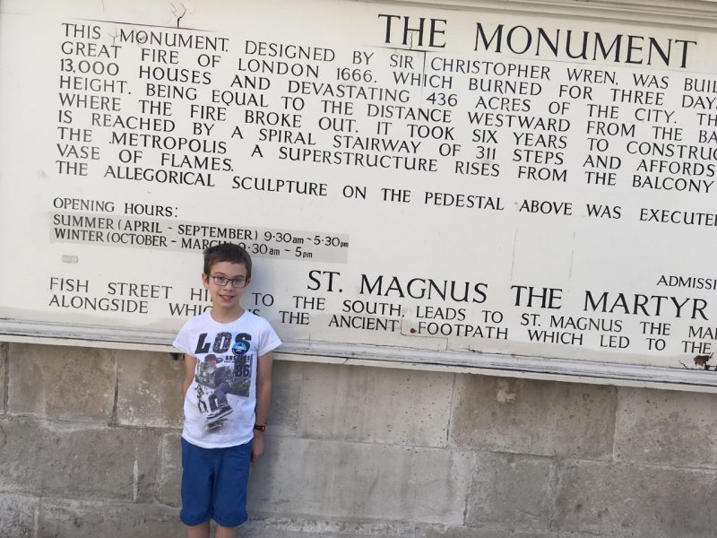 The information on The Monument