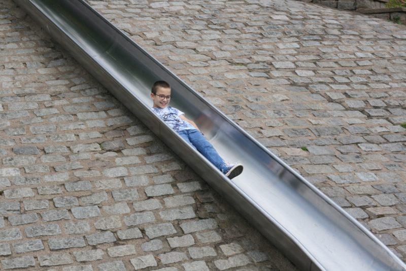 slide through wall